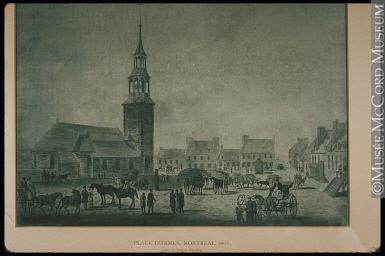 Place d'Armes, Montreal, 1807. Copyright McCord Museum.