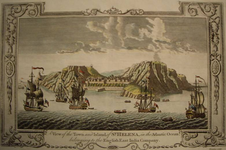 A View of the Town and Island of St. Helena in the Atlantic Ocean belonging to the English East India Company