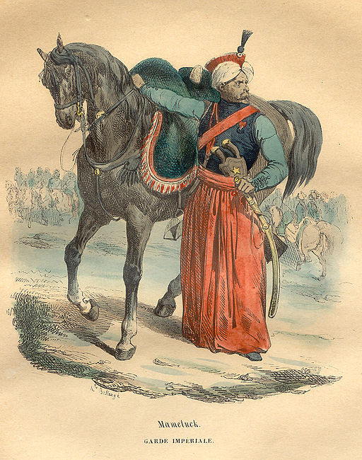 A mameluke from the Imperial Guard of the Grande Armée, by Hippolyte Bellangé, 1843