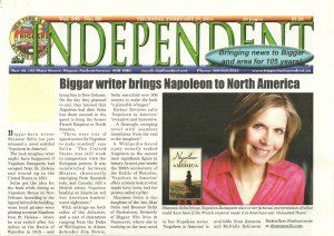 Biggar writer Shannon Selin brings Napoleon to North America
