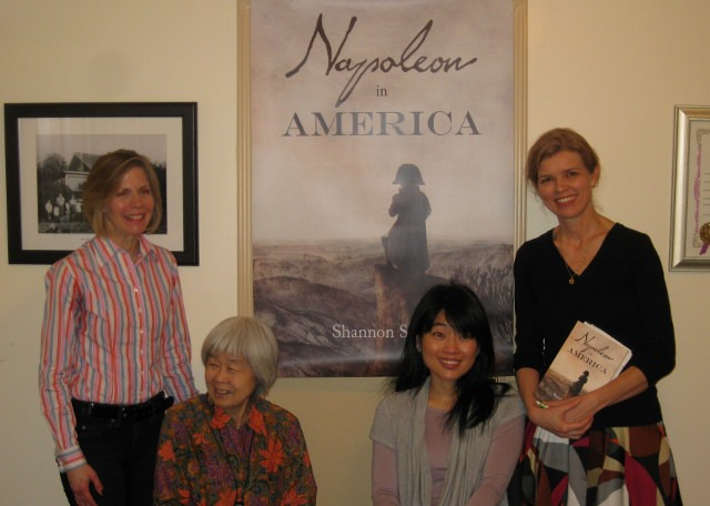Napoleon in America author Shannon Selin, Canadian writer Joy Kogawa, Kerrisdale Playbook editor Keiko Honda, and journalist Katja De Bock at the Napoleon in America book launch, April 6, 2014