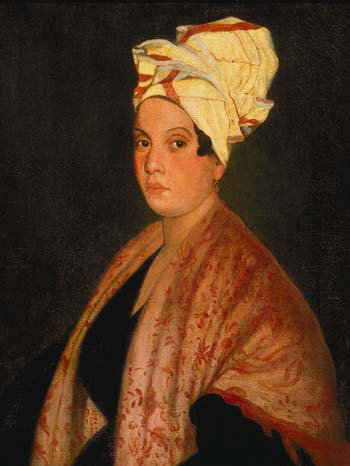 1920 painting of Marie Laveau by Frank Schneider, based on an 1835 painting (now lost) by George Catlin