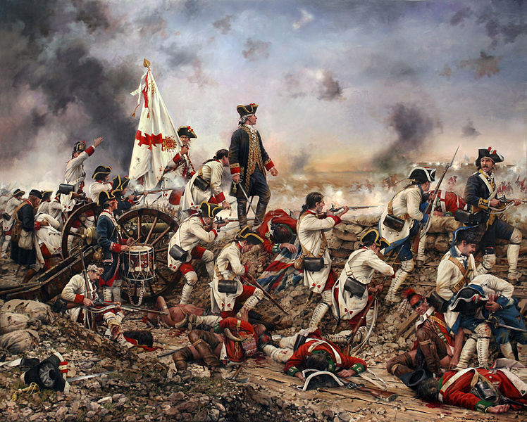 Spanish forces led by Bernardo de Gálvez at the siege of Pensacola in 1781, by Augusto Ferrer-Dalmau, 2015. Josephine Lauret's father, Pierre George Rousseau, helped Gálvez force the surrender of the British garrison.