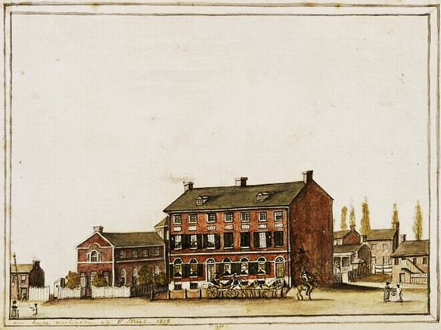 French Ambassador's home in Washington, by Anne-Marguerite Hyde de Neuville, 1818