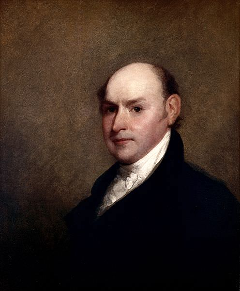 John Quincy Adams by Gilbert Stuart, 1818, during the period in which he was working on his report on weights and measures
