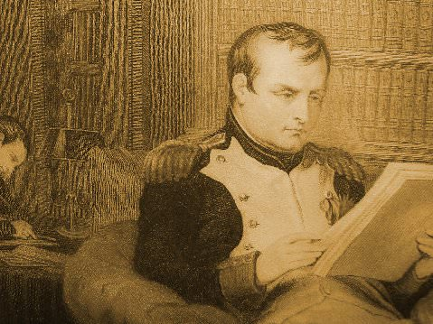 Napoleon reading books