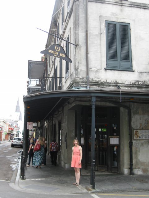 Shannon Selin outside Napoleon House in New Orleans