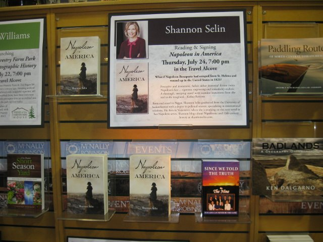 The Napoleon in America display at McNally Robinson Booksellers in Saskatoon.