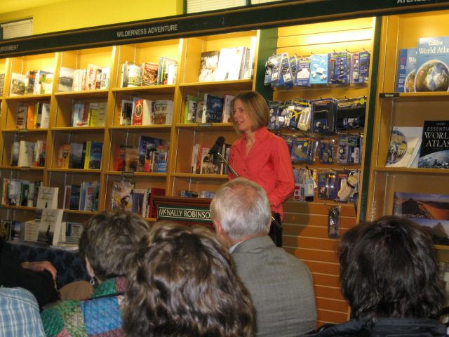Shannon talking about Napoleon in America at McNally Robinson Booksellers in Saskatoon
