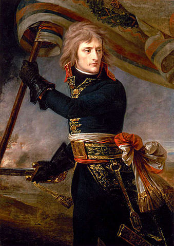 Dashing on the battlefield, less so on the dance floor. Napoleon Bonaparte on the bridge at Arcola, by Antoine-Jean Gros, 1796. (Among many interesting Napoleon facts, he was a bad dancer.)