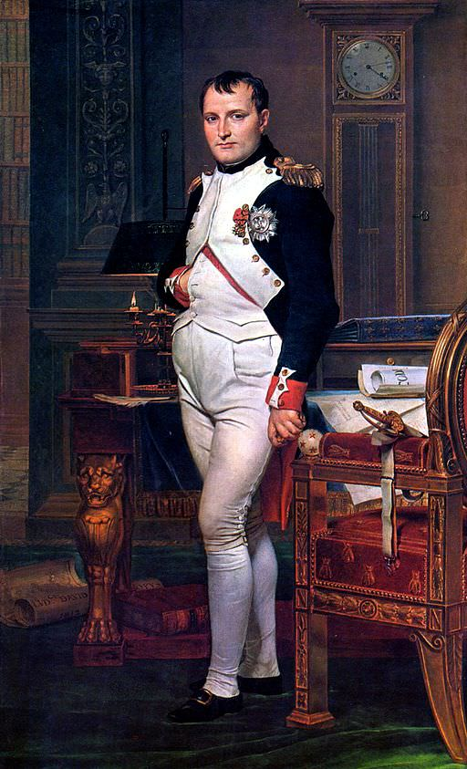 Napoleon in his Study at the Tuileries, by Jacques-Louis David, 1812