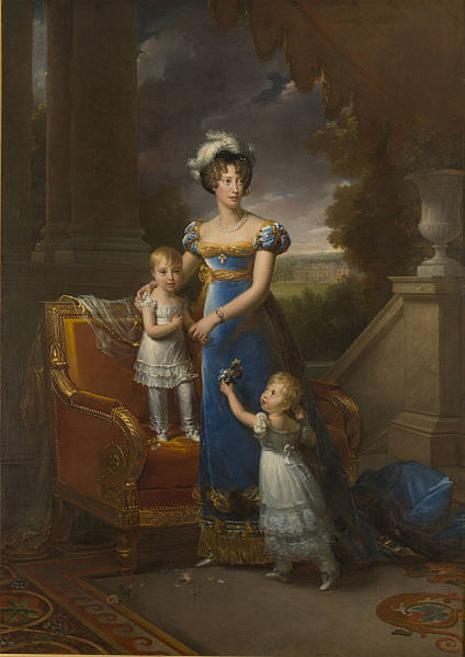 The Duchess of Berry with her children Louise Marie Thérèse d'Artois and Henri Charles Ferdinand Dieudonné d'Artois, by François Gérard, 1822