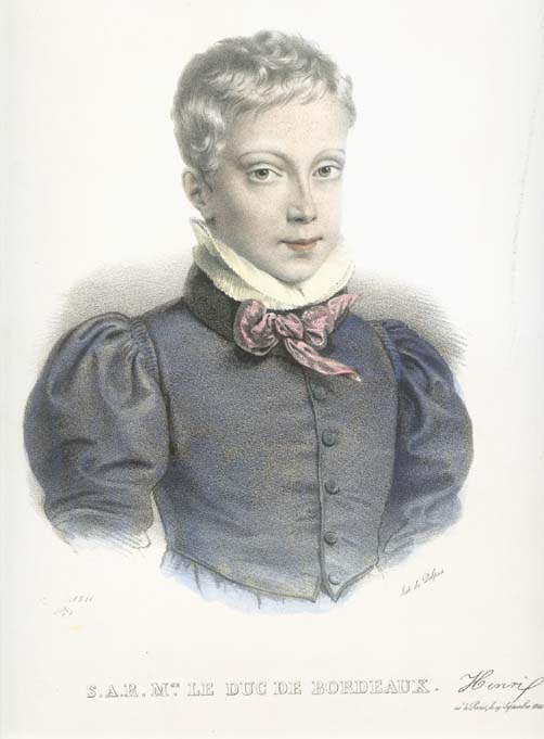 Henri d'Artois, Duke of Bordeaux, circa 1833