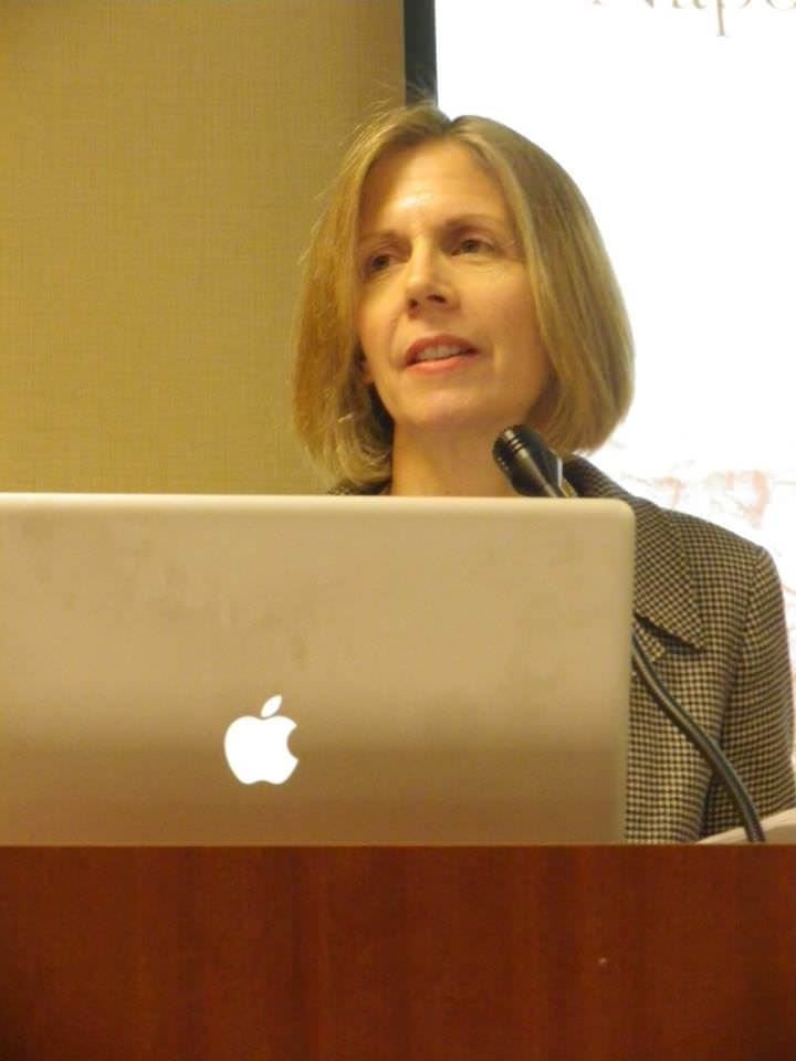 Shannon Selin speaking at the Napoleonic Historical Society conference in New Orleans