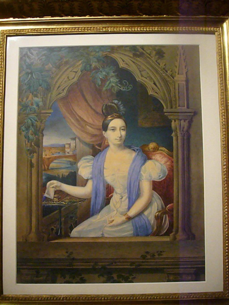 Charlotte Bonaparte, self-portrait, 1834