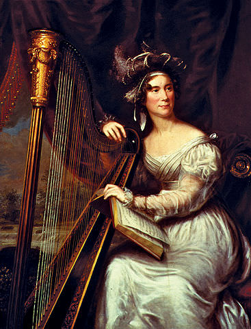 Louisa Adams by Charles Bird King, circa 1821-1825. A native of London, Louisa Adams was the first foreign-born First Lady of the United States.