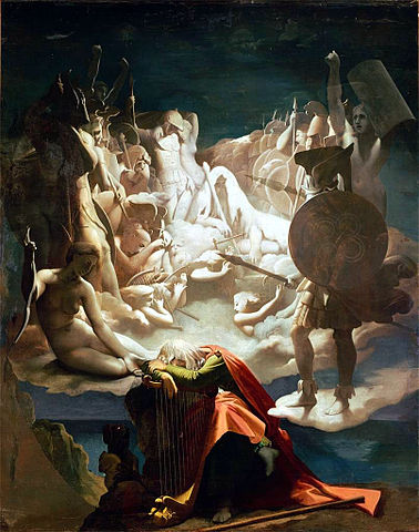 The Dream of Ossian by Jean Auguste Dominique Ingres, 1813, commissioned by Napoleon