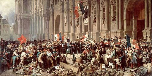 The 1848 French Revolution: Lamartine in front of the Hôtel de Ville of Paris on February 25, 1848, by Henri Félix Emmanuel Philippoteaux