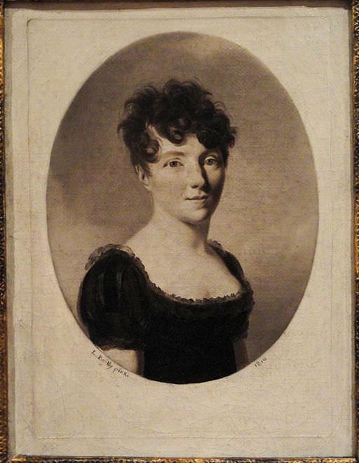 Portrait of a woman (perhaps Sophie de Bawr) with coiffure à la Titus, by Louis Léopold Boilly, 1810