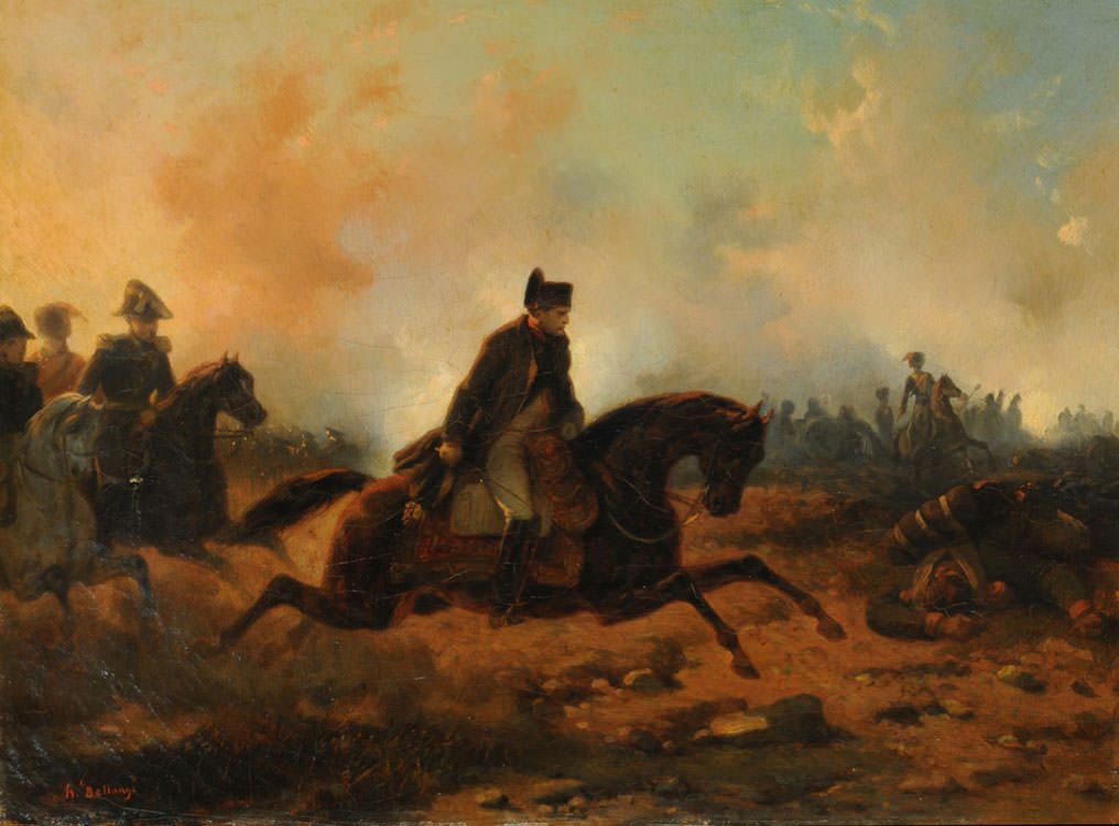 Napoleon at the Battle of Waterloo by Hippolyte Bellangé