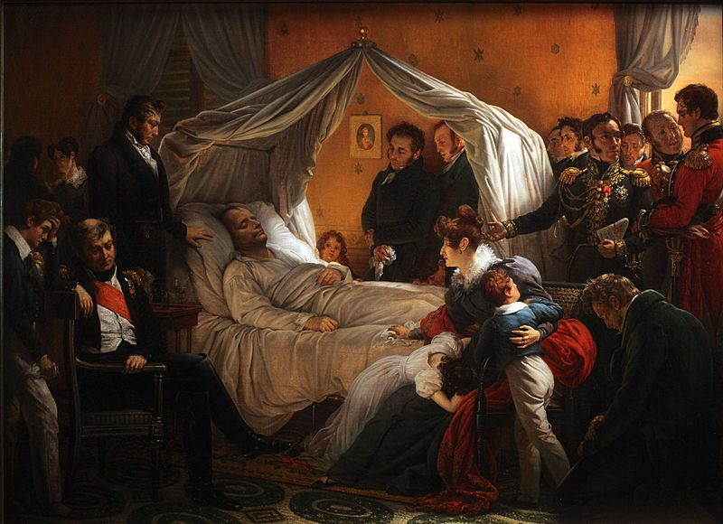 The Death of Napoleon by Charles de Steuben