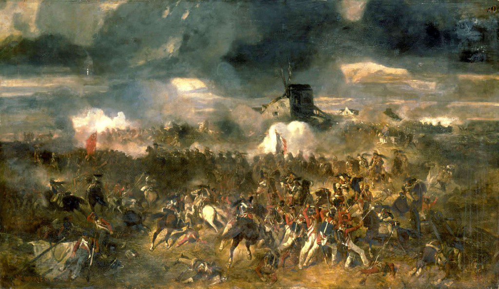 The Battle of Waterloo by Clément-Auguste Andrieux