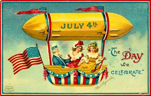 July 4th balloon. The entrepreneurial Mr. Renault refused to be daunted in his quest to put on a balloon and fireworks display for July 4th in New Orleans in 1821.