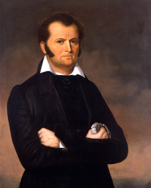 Jim Bowie by George Peter Alexander Healey, around 1820