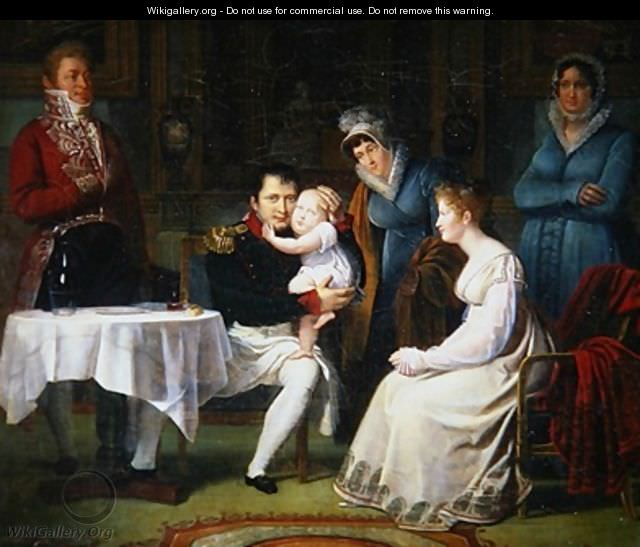 Substituted at birth? Napoleon I, Marie Louise and the King of Rome by Alexandre Menjaud, 1812
