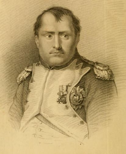 Napoleon Bonaparte, frontispiece from William Warden, Letters Written on Board His Majesty's Ship the Northumberland and at St. Helena (London, 1816)