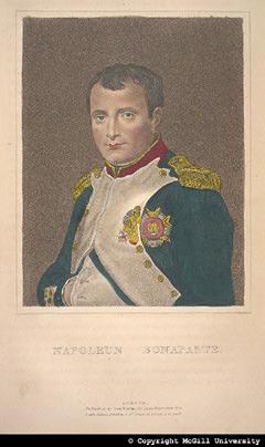 Napoleon Bonaparte, based on the portrait by David, copyright McGill University