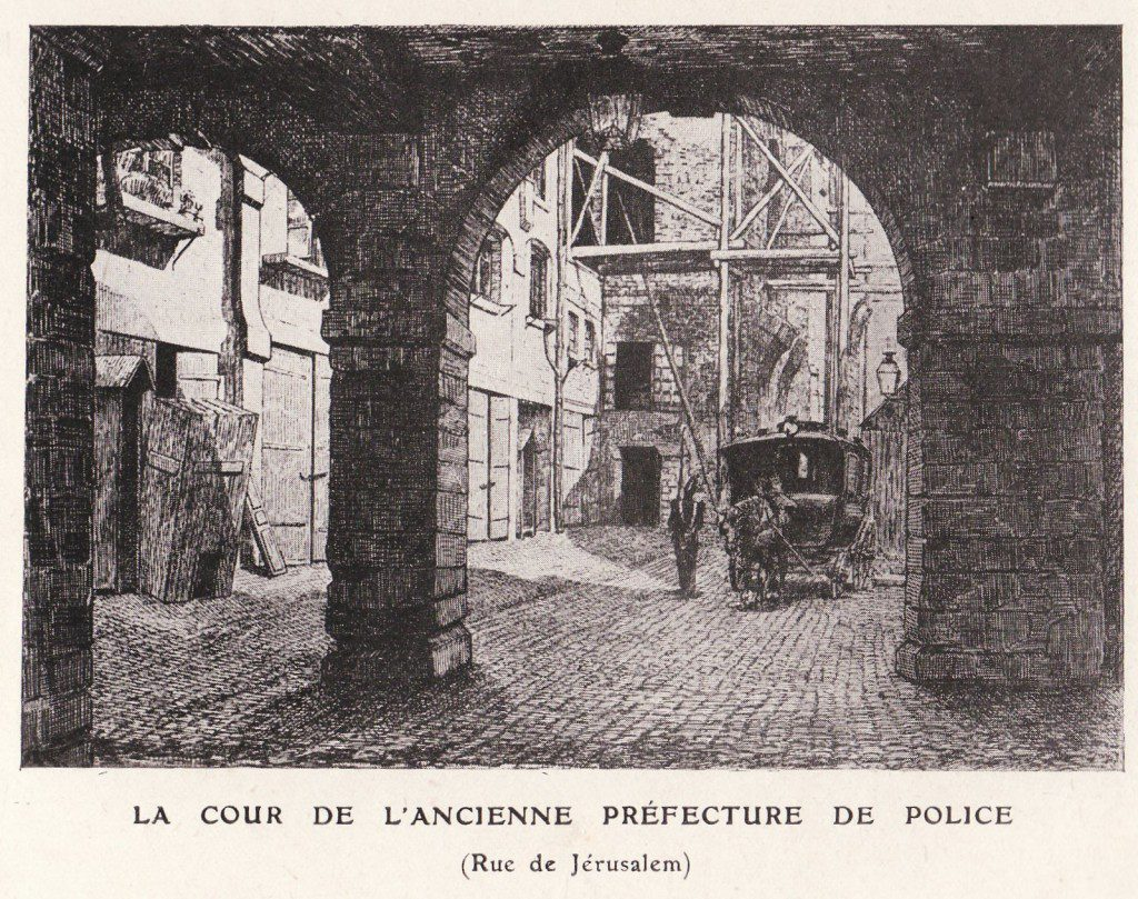 Courtyard of the police prefecture in Paris
