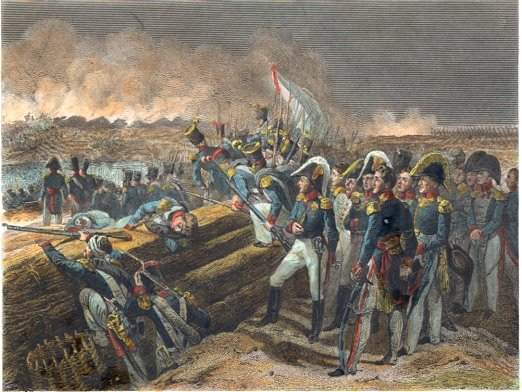 The French siege in the Battle of Trocadero, August 31, 1823