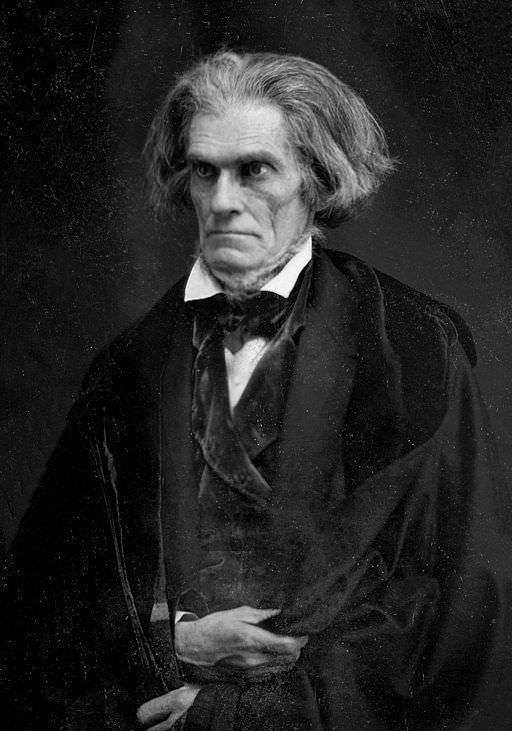 Daguerreotype of John C. Calhoun by Matthew Brady, 1849