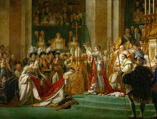 Detail from the Coronation of Napoleon by Jacques-Louis David. Napoleon's favourite composer Giovanni Paisiello wrote a mass and Te Deum for the occasion.