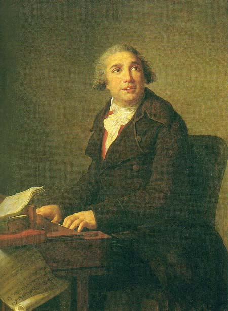 Napoleon's favourite composer Paisiello at the clavichord, by Élisabeth Vigée Le Brun, 1791