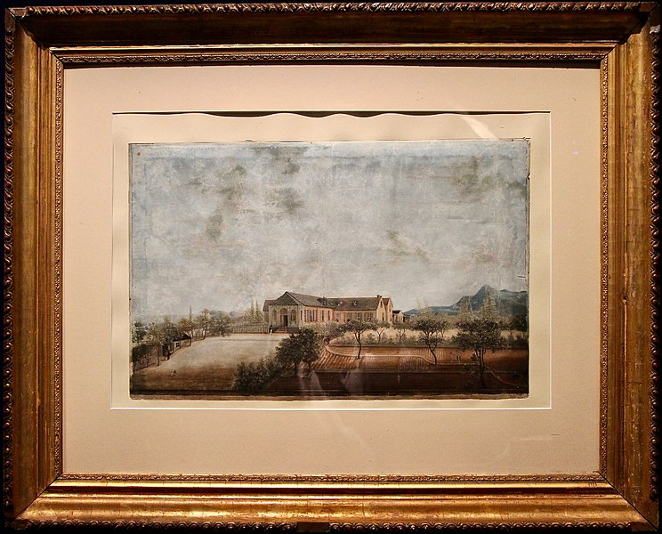 View of Longwood House, attributed to Louis-Joseph Marchand, 1819