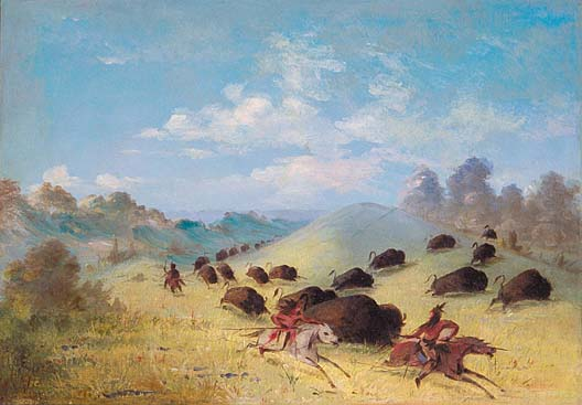 Comanche Indians by George Catlin. José Francisco Ruiz was instrumental in helping the Mexican government make peace with the Comanches and other tribes in the 1820s.