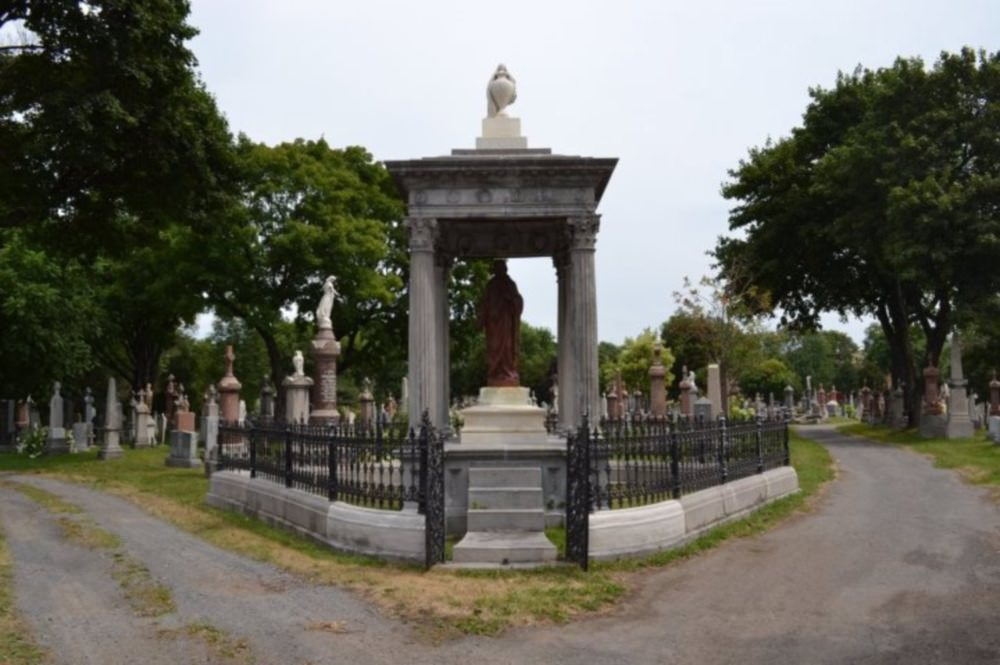 The Venner monument at Saint-Charles cemetery in Quebec City