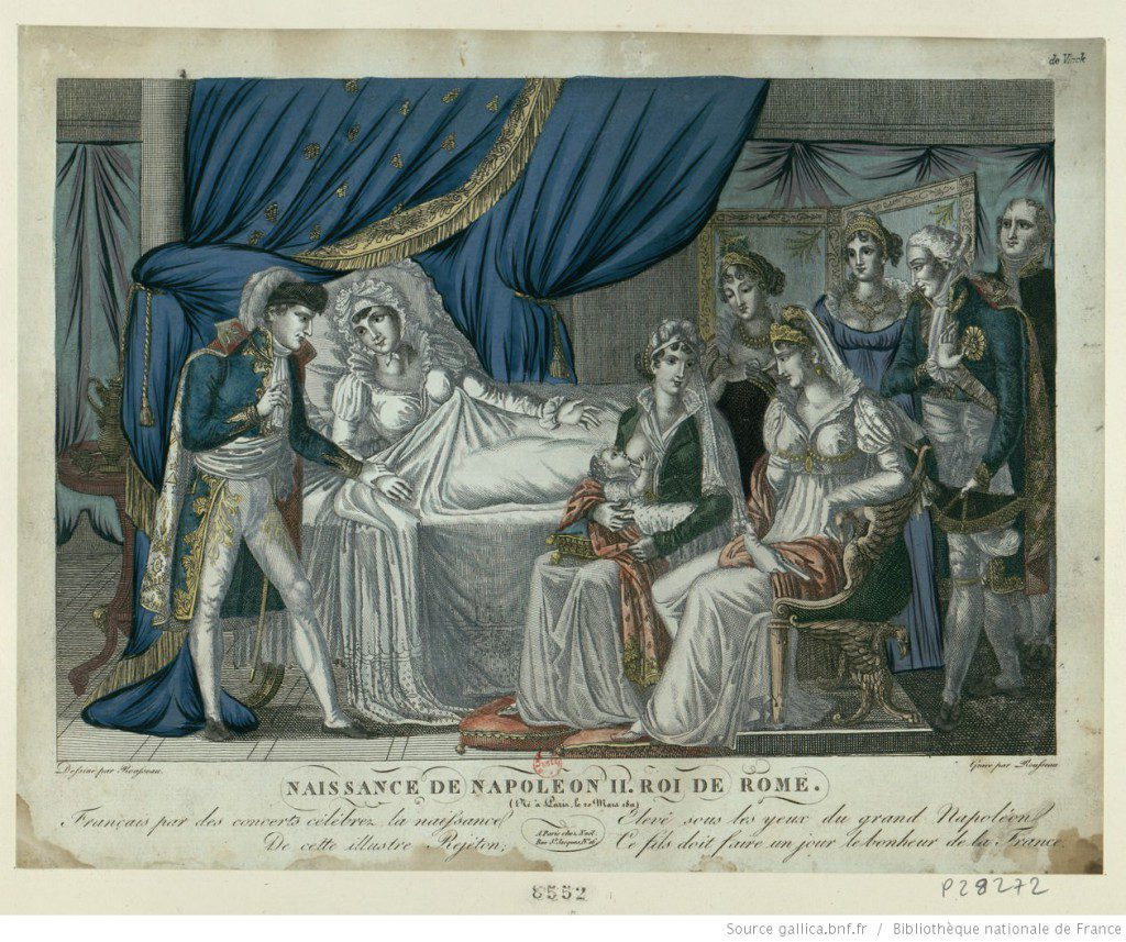 Birth of Napoleon II, King of Rome. Source: Bibliothèque nationale de France