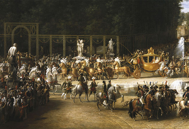The Marriage of Napoleon and Marie Louise by Étienne-Barthélémy Garnier