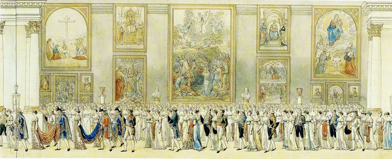 Detail of the Wedding Procession of Napoleon and Marie-Louise of Austria through the Grande Galerie of the Louvre by Benjamin Zix