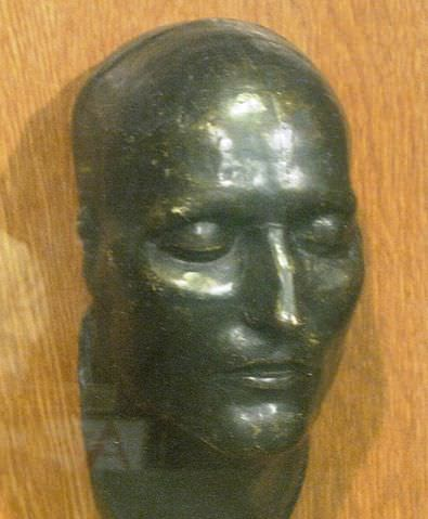 Plaster cast of Napoleon's death mask from the original owned by François Carlo Antommarchi