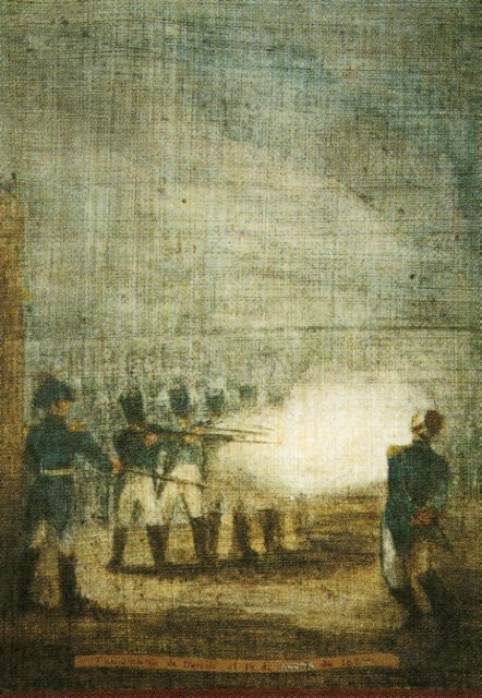 The execution of Agustín de Iturbide at Padilla, after his arrest by Felipe de la Garza
