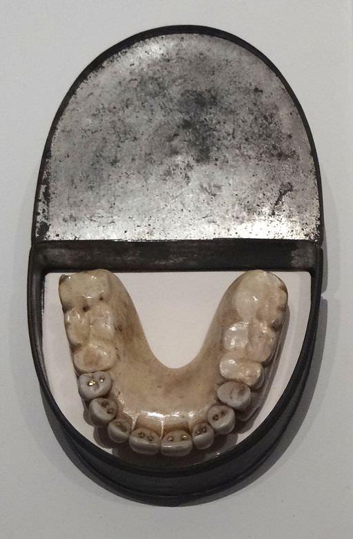 Dentures with Waterloo Teeth - Military Museum, Dresden, Germany