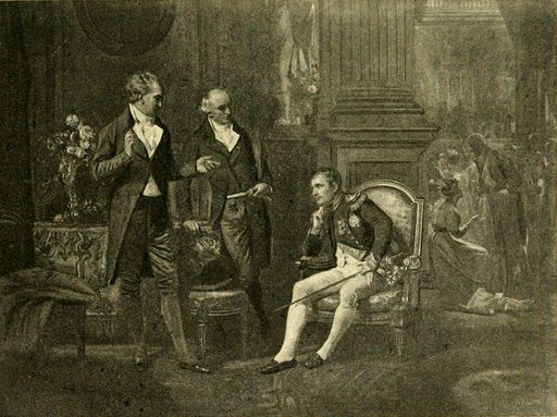 When Napoleon met Goethe and Wieland. Photogravure from a painting by Eugène Ernest Hillemacher