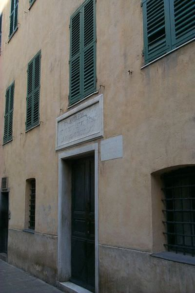 The house in Ajaccio, Corsica in which Napoleon Bonaparte was born.