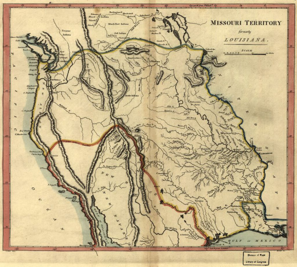 Missouri Territory formerly Louisiana, published by Matthew Carey in 1814. Source: Library of Congress