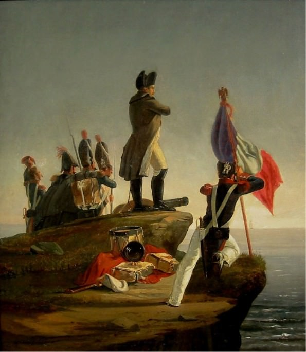 "Napoleon on Elba by Horace Vernet. Napoleon did not say ""Able was I ere I saw Elba."""