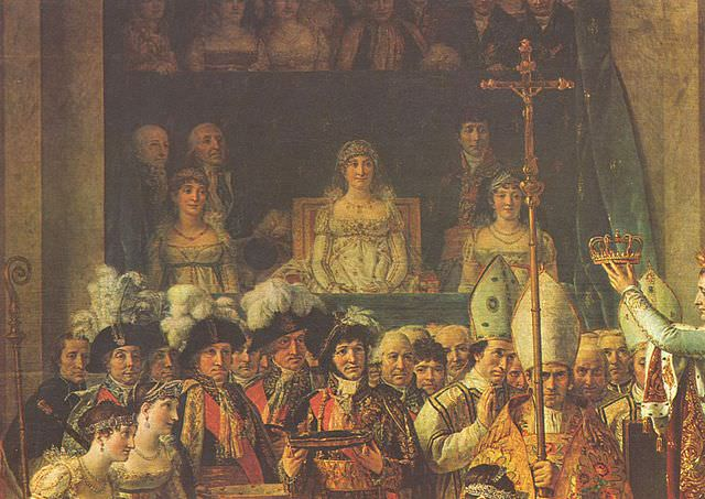 Detail of David's Coronation of Napoleon showing Madame Mère, who wasn't actually there